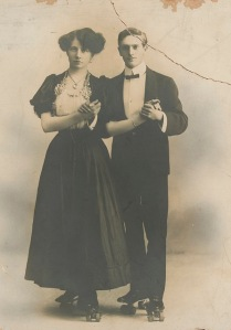 Ruby Beyer and beau, early 20th century Australian skating couple