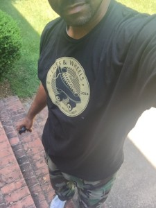 Jaron rocking his Laces & Wheels tee!